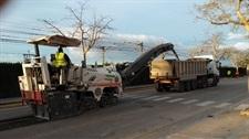 Reparació asfaltat avinguda 9 d'octubre