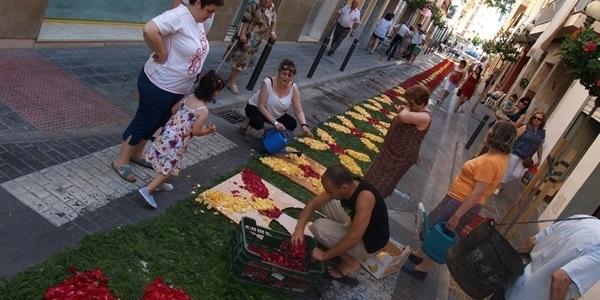 Estora de flors per a la Processó del Corpus
