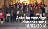 Acte de reconixement als donants de sang del nostre poble