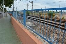 Renovació de la tanca de protecció de la línia de metro