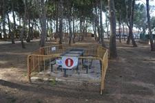 Renovació de taules a la pinada del Poliesportiu