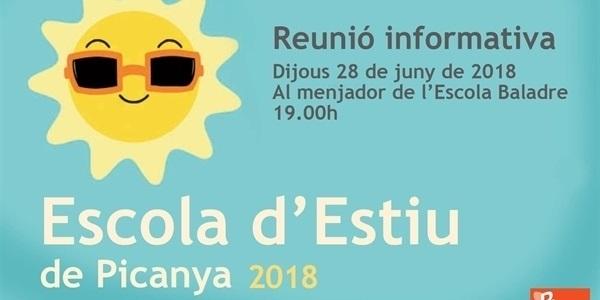 Reunió informativa sobre l'Escola d'Estiu 2018