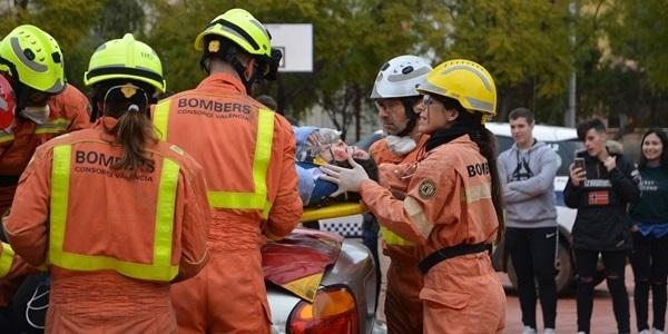 Simulacre d'intervenció en accident de trànsit