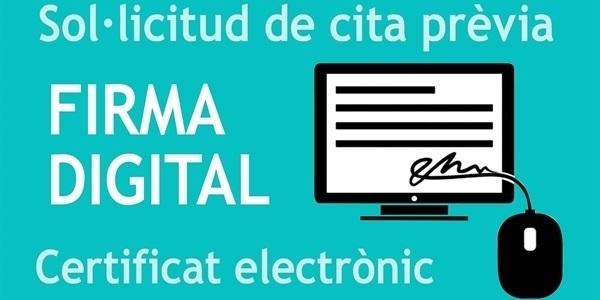 Sol·licitud de cita prèvia per a obtindre la firma electrònica